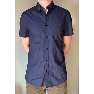 Nordstrom Men's Shop Trim Fit Short-Sleeve Shirt